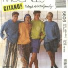 McCall's Sewing Pattern 5606 Misses Mens Chest Size 30½ - 31½  Pants Short Hoodies Sweatshirts