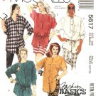 McCall's Sewing Pattern 5617 Misses Sizes 10-12 Easy Basic Button Front Blouses Big Shirts Tops