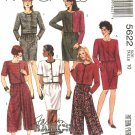 McCall's Sewing Pattern 5622 Misses Size 10 Basic Two-Piece Dress Jacket Skirt Split-Skirt Gauchos