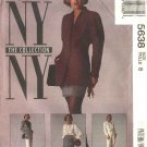McCall's Sewing Pattern 5638 Misses Size 8 NYNY Wardrobe Lined Jacket Blouse Pants Skirt