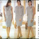 Butterick Sewing Pattern 6002 Misses Size 14-18 Easy Wardrobe Sleeveless Dress Top Skirt Jacket