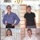 Butterick Sewing Pattern 6020 Misses Size 8-10-12 Button Front Blouses Short Long Sleeve Two Styles