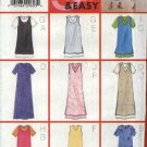 Butterick Sewing Pattern 6066 Misses Size 8-10-12 Easy Short Sleeve Dress Pullover Jumper