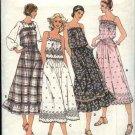 Butterick Sewing Pattern 6122 Misses Size 12 Summer Sundress Dress Skirt Top