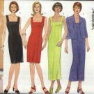 Butterick Sewing Pattern 6142 Misses Size 14-16-18 Easy Classic Straight Sleeveless Dress Jacket