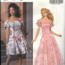 Butterick Sewing Pattern 6154 B6154 Misses Size 6-10 Off Shoulder Princess Seam Formal Dress