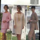 Butterick Sewing Pattern 6206 Misses Size 6-8-10 Easy Pullover Straight Dress Tunic Top Skirt Pants