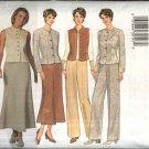 Butterick Sewing Pattern 6215 Misses Size 8-10-12 Easy Wardrobe Jacket Vest Skirt Pants