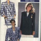 Butterick Sewing Pattern 6240 Misses Size 6-8-10 Easy Double Breasted Unlined Jacket Blazer