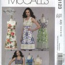 McCall's Sewing Pattern 6123 Misses Size 4-12 Sleeveless Summer Color Blocked Dress Top Tunic