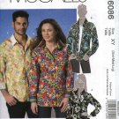 "McCall's Sewing Pattern 6086 Mens Misses chest Size 31 1/2 - 40"" Long Sleeve Button Front Shirt"