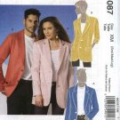 "McCall's Sewing Pattern 6087 Misses Mens Unisex Chest Size 34""- 44"" Lined Long Sleeve Jacket"