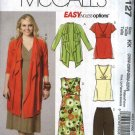 McCall's Sewing Pattern 6127 M6127 Womans Plus Size 26W-32W Easy Knit Dress Top Jacket Pants