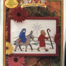 Beginners Bible Just Cross Stitch Kits Road to Bethlehem Christmas 43031 NEW  Kit