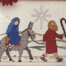 Beginners Bible Just Cross Stitch Kits Road to Bethlehem Christmas 43031 NEW  Kit