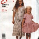 McCall's Sewing Pattern 8019 girls Size 3-4-5-6 Easy Short Sleeve Dropped Waist Dress