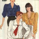 Butterick Sewing Pattern 6251 Misses Size 12-14-16 Easy Button Front Collar Sleeve Options Blouse