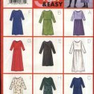 Butterick Sewing Pattern 6261 Misses Size 20-22-24 Easy Pullover A-line Gathered Skirt Dress