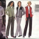 Butterick Sewing Pattern 6266 Misses Size 8-10-12 Easy Zipper Front Jacket Vest Pants