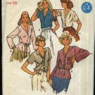 Retro Butterick Sewing Pattern 6275 Misses Size 16 B 38 Quick Short Long Sleeve Button Front Blouse