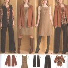 Simplicity Sewing Pattern 2866 Misses Size 10-18 Easy Wardrobe Jumper Pants Jacket Vest