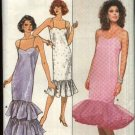 Retro Butterick Sewing Pattern 5665 Misses Size 12-14-16 Straight Long Short Formal Prom Dress