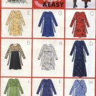 Butterick Sewing Pattern 5689 Misses Size 18-20-22 Easy Pullover Long Sleeve Raised Waist Dress