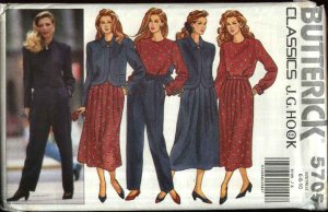 Butterick Sewing Pattern 5705 Misses Size 6-8-10 Easy Classic Wardrobe Jacket Pants Skirt Top