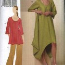 Vogue Sewing Pattern 8659 Misses Size 8-10-12-14 Easy Pullover Dress Tunic Top Cropped Pants
