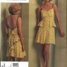 Vogue Sewing Pattern 1105 Misses Size 4-10 Anna Sui Summer Dress Sundress Ruffles Flounces
