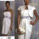 Vogue Sewing Pattern 1154 V1154 Misses Size 14-20 Badgley Mischka Lined Jacket Strapless Dress