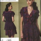 Vogue Sewing Pattern 1178 Misses Size 14-20 Anna Sui Fitted Lined Front Wrap Dress Ruffles