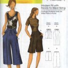 Butterick Sewing Pattern 5504 Misses Size 3-16 Shorts Capri Cropped Drawstring Pants