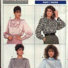 Butterick Sewing Pattern 5757 Misses Size 12-14-16 Easy Long Sleeve Back Button Blouse Top
