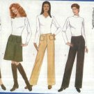 Butterick Sewing Pattern 5767 Misses Size 6-8-10 Easy Classic A-Line Short Long Skirts Pants