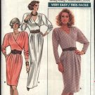 Retro Butterick Sewing Pattern 5797 Misses Size 8-10-12 Easy Knit Long Sleeve Mock Wrap Dress