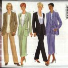 Butterick Sewing Pattern 5835 Misses Size 8-10-12 Classic Shawl Collar Jacket Straight Skirt Pants