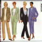 Butterick Sewing Pattern 5835 B5835 Misses Size 8-12 Shawl Collar Jacket Straight Skirt Pants