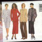 Butterick Sewing Pattern 5836 Misses Size 14-18 Classic Button Front Jacket Straight Skirts Pants
