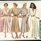 Retro Butterick Sewing Pattern 5839 Misses Size 6-8-10 Easy Dolman Sleeve Flared Skirt Dress