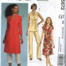McCall's Sewing Pattern 5672 Misses Size 6-14 Wardrobe Tunic Top Cropped Capri Pants Dress