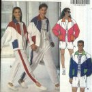 Butterick Sewing Pattern 5922 Mens Misses Unisex Chest 30-40 Easy Workout Jacket Shorts Pants