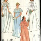 Vintage Butterick Sewing Pattern 5939 Misses Size 14 Wedding Bridal Gown Bridesmaid Dress Capelet