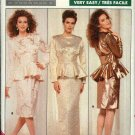 Retro Butterick Sewing Pattern 5942 Misses Size 8-12 Easy Family Circle Two-Piece Formal Dress