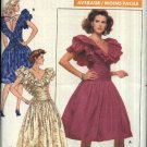 Retro Butterick Sewing Pattern 5946 Misses Size 14-18 Ruffled Flounced Formal Party Dance Dress