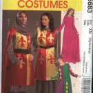 McCall's Sewing Pattern 5683 Mens Misses Size 46-56 Unisex Medieval Costumes Dress Tabard Hood