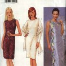 Butterick Sewing Pattern 6764 Misses Size 12-14-16 Easy Short Long Formal Dress Machine Embroidery
