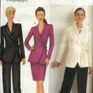 Butterick Sewing Pattern 6770 Misses Size 6-8-10 Easy Wrap Front Jacket Straight Skirt Pants Suit