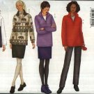Butterick Sewing Pattern 6772 Misses Size 6-8-10 Easy Fleece Wardrobe Top Skirt Pants Gloves