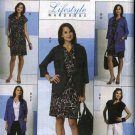 Butterick Sewing Pattern 5472 Misses Size 8-14 Easy Wardrobe Loose Jacket Dress Top Pants Sash